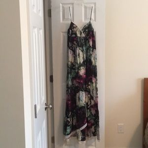 BCBG Generation Long MultiColored Dress M